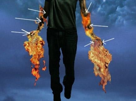 21 How to Create a Flaming Manipulation in Photoshop
