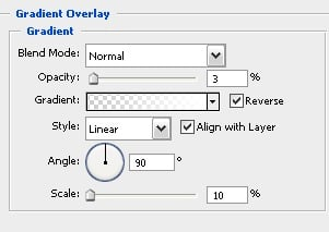 Gradient overlay layer style