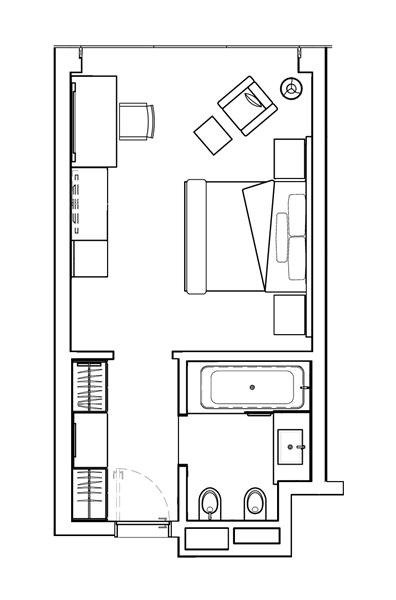 2D Bedroom Plan
