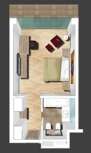 3D Bedroom Plan