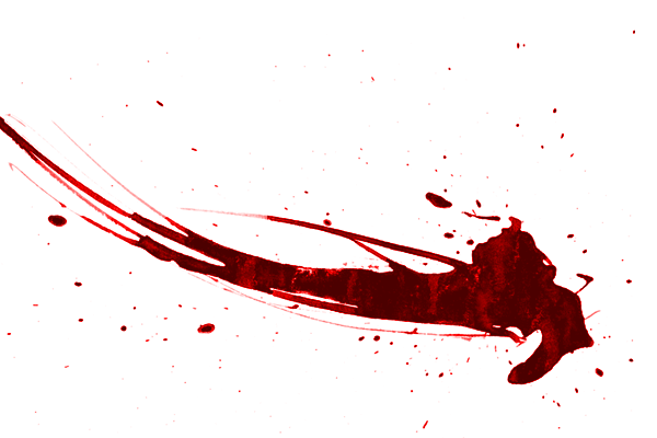 Transparent Blood Splatter