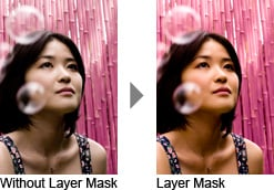 With and Without Layer Mask