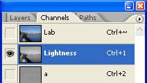 Lightness channel selected