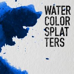 watercolor splatters photoshop brushes Image