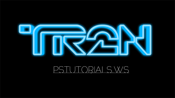 How to Create Glowing TRON-Inspired 3D Text in Photoshop Extended Image_33