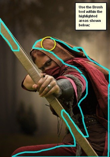 How to Create a Photo Manipulation of an Assassin with a Flaming Arrow in Photoshop Image040