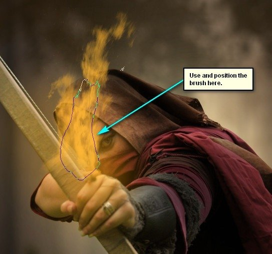 How to Create a Photo Manipulation of an Assassin with a Flaming Arrow in Photoshop Image052