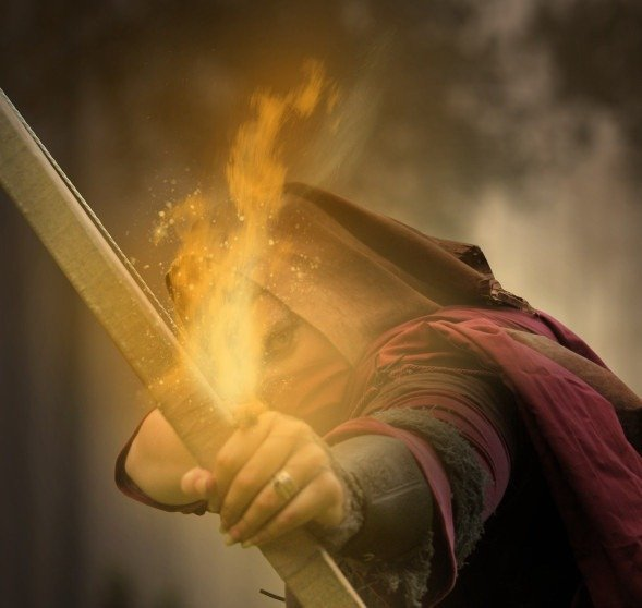 How to Create a Photo Manipulation of an Assassin with a Flaming Arrow in Photoshop Image070
