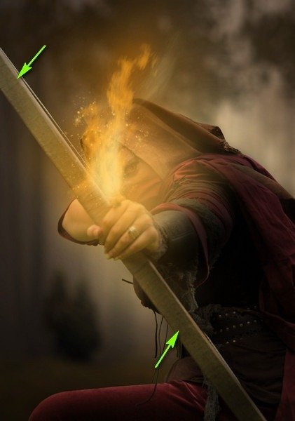 How to Create a Photo Manipulation of an Assassin with a Flaming Arrow in Photoshop Image074