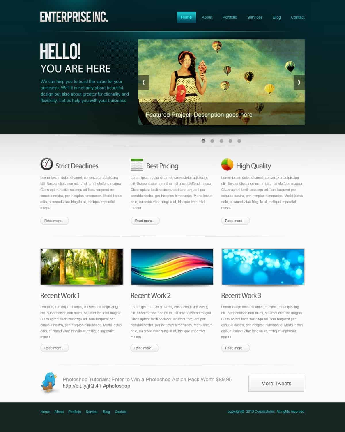 How to Create a Professional Web Layout in Photoshop - Photoshop ...
