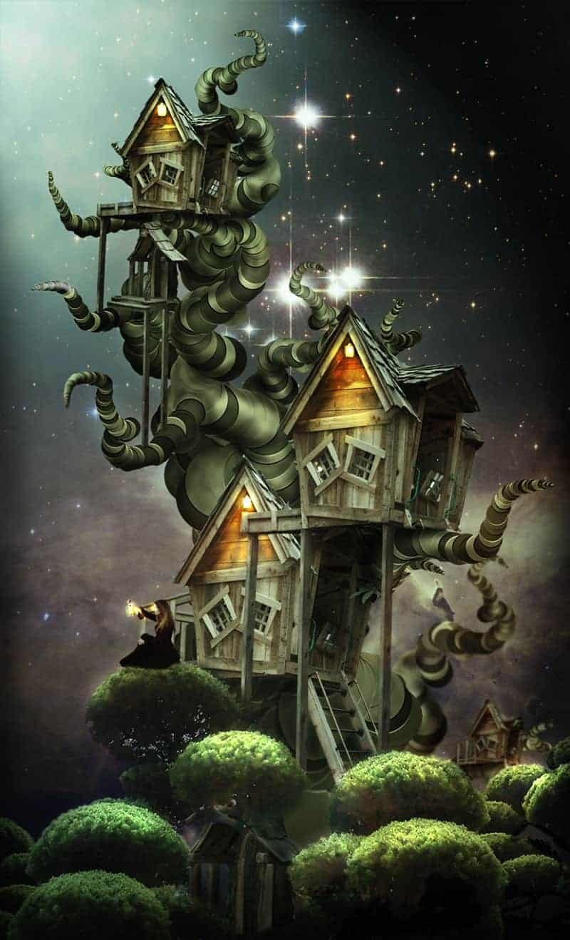 Create an Amazing Surreal-Style Treehouse in Photoshop