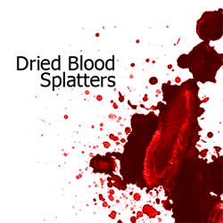 Dried Blood Splatters Photoshop Brushes | Photoshop Tutorials