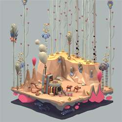 12 Cute Low-Polygon 3D Artworks by Erwin Kho