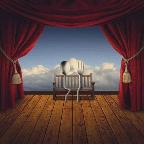 Create a Romantic Cutlery Artwork Inspired by Salvador Dali
