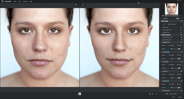 Portrait Enhancements on Medium