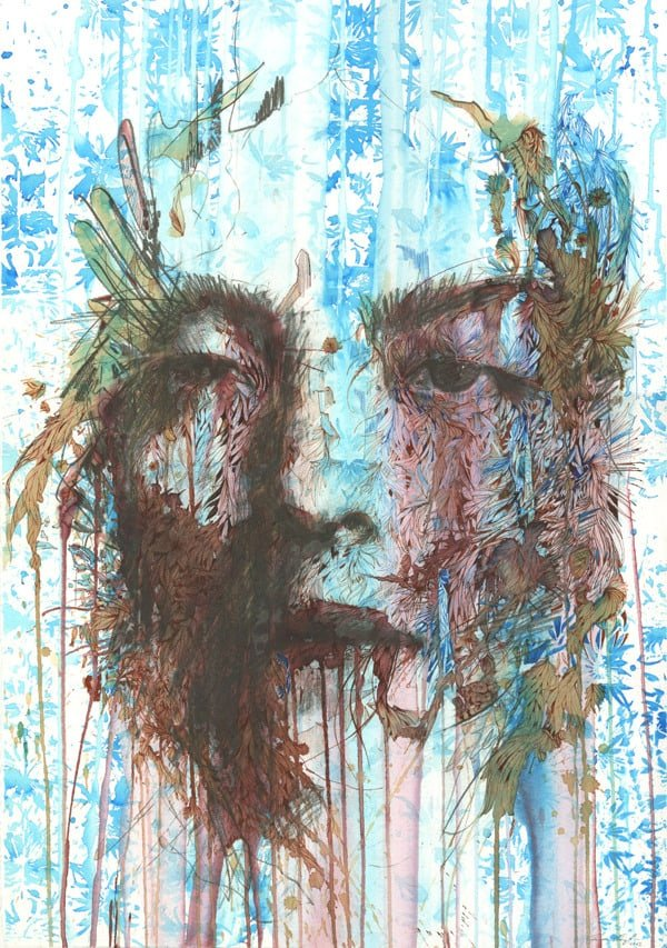 Interview with an Artist Working in Ink Tea and Alcohol, Carne Griffiths