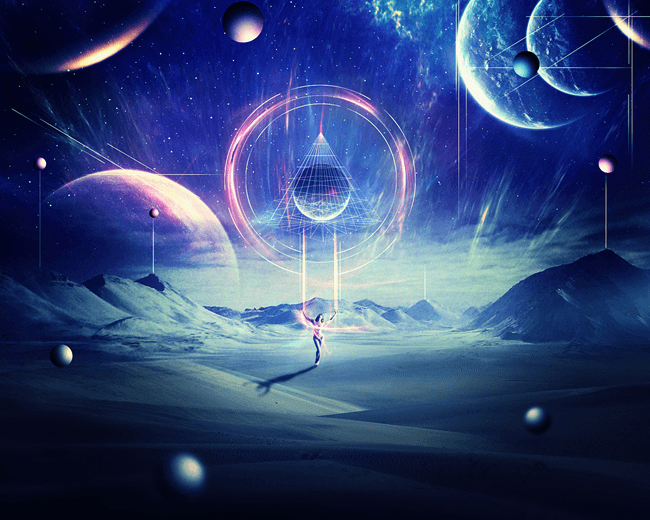Create An Abstract Sci Fi Scene With Photoshop