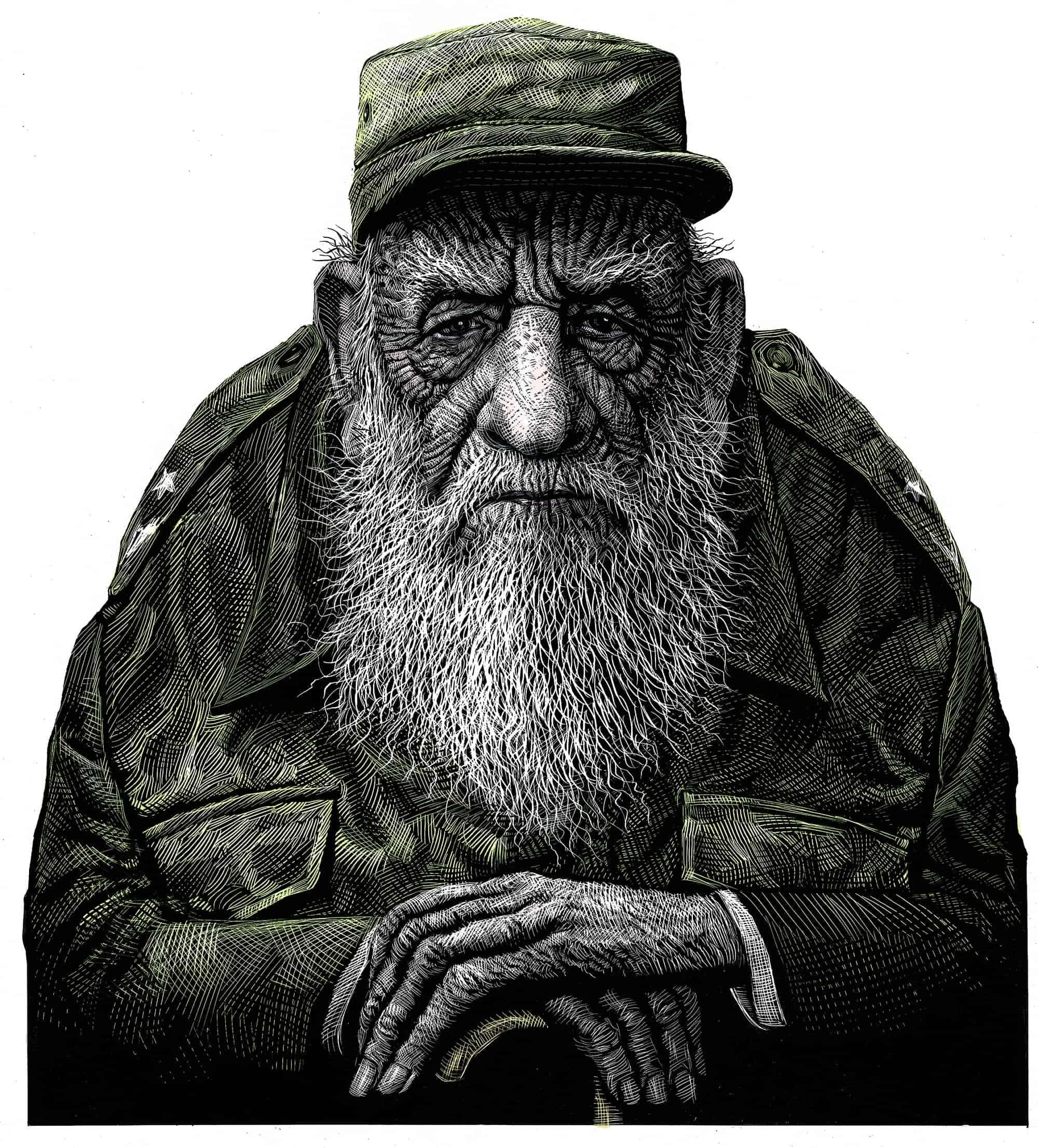Fidel Castro color copia