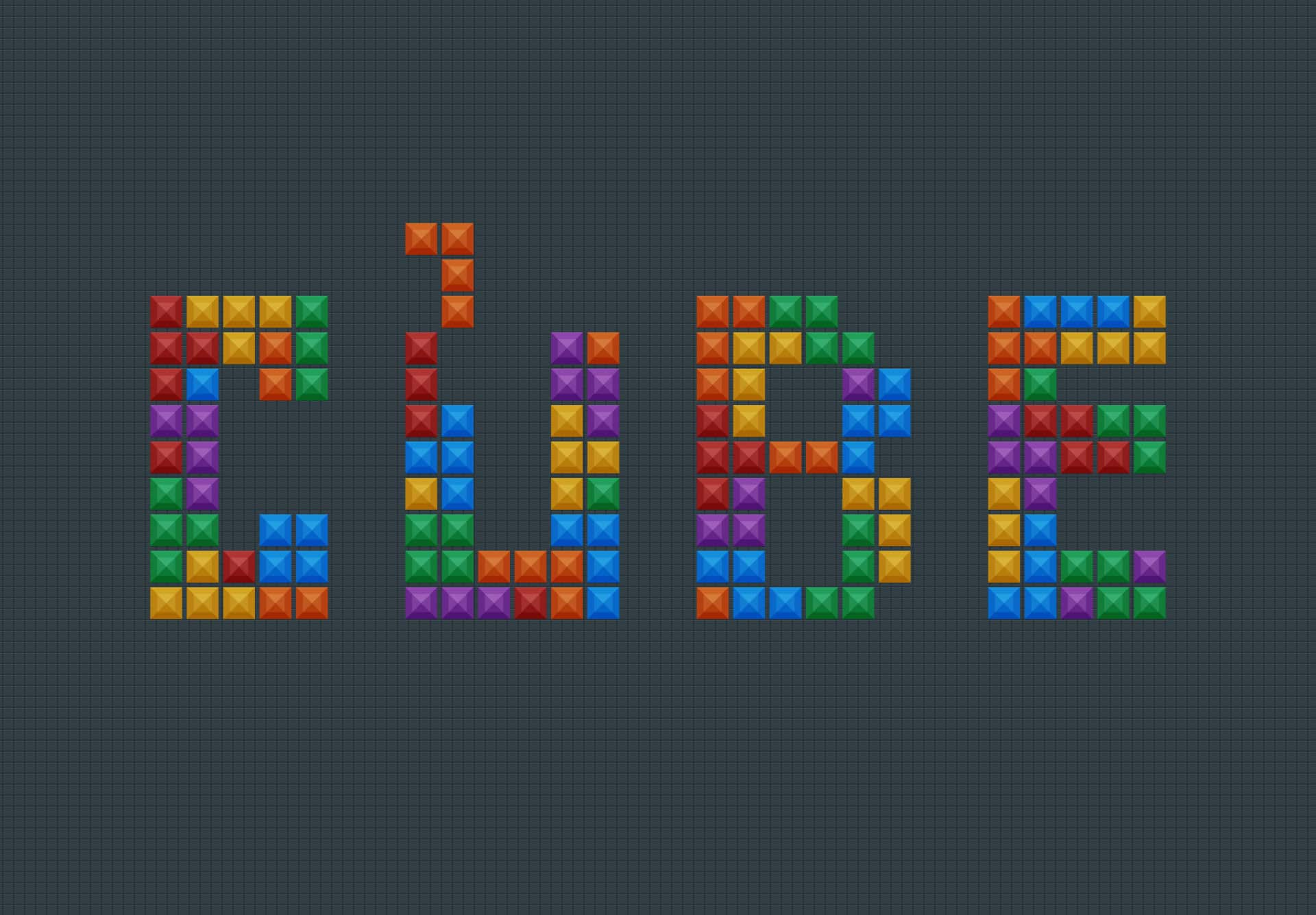 Create a Tetris Tile Text Effect in Photoshop