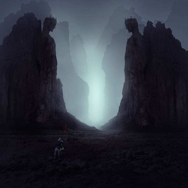 Create a Dark and Mysterious Landscape Matte Painting with ...