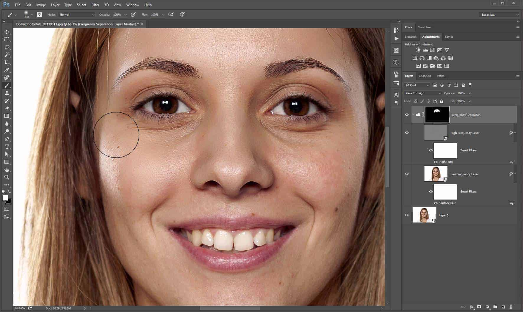 How to Airbrush Skin With Frequency Separation
