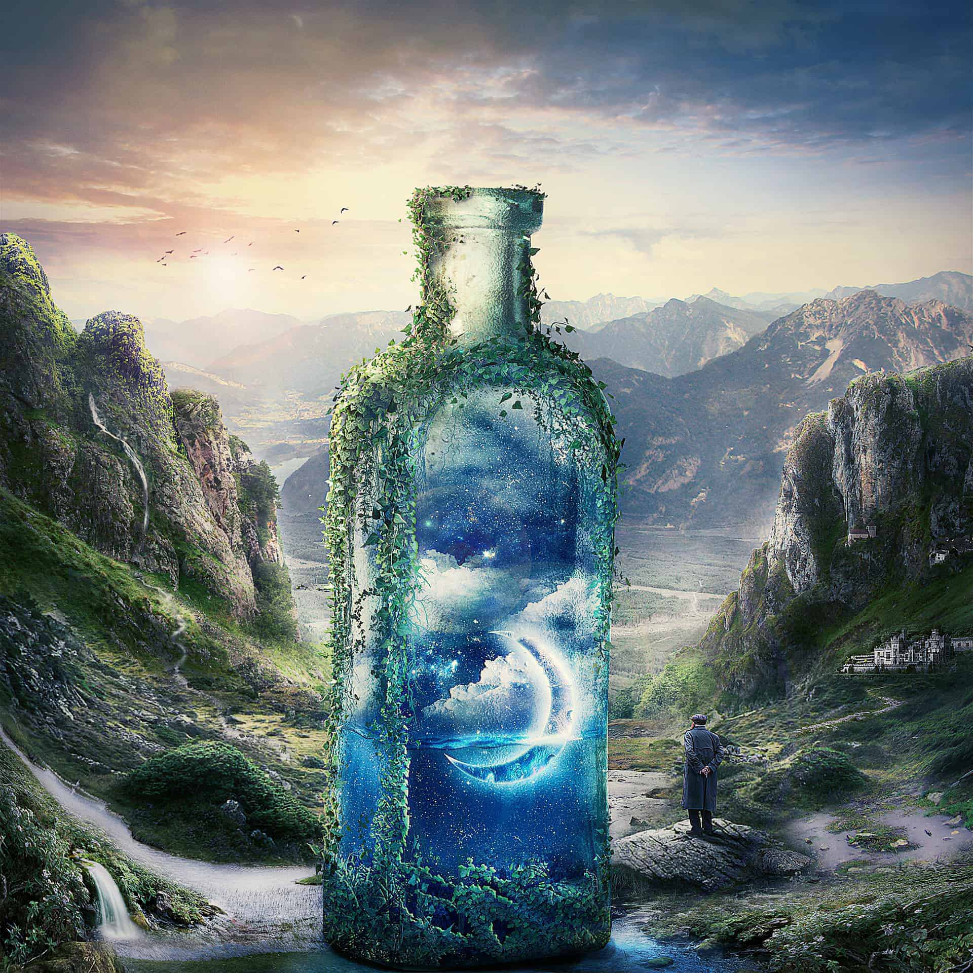 Create A Surreal And Magical Dream Bottle Landscape Photoshop Tutorials