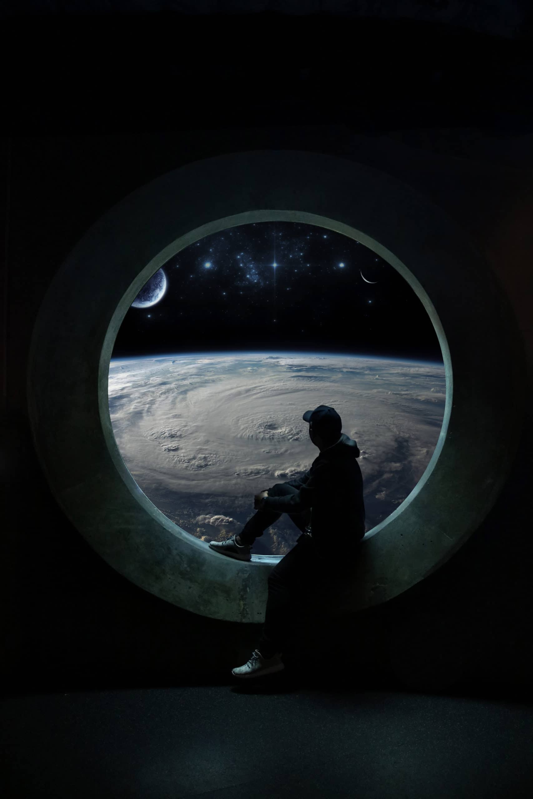 How to Create a Photo Manipulation Scene from the Other Side - A View of Earth from Space