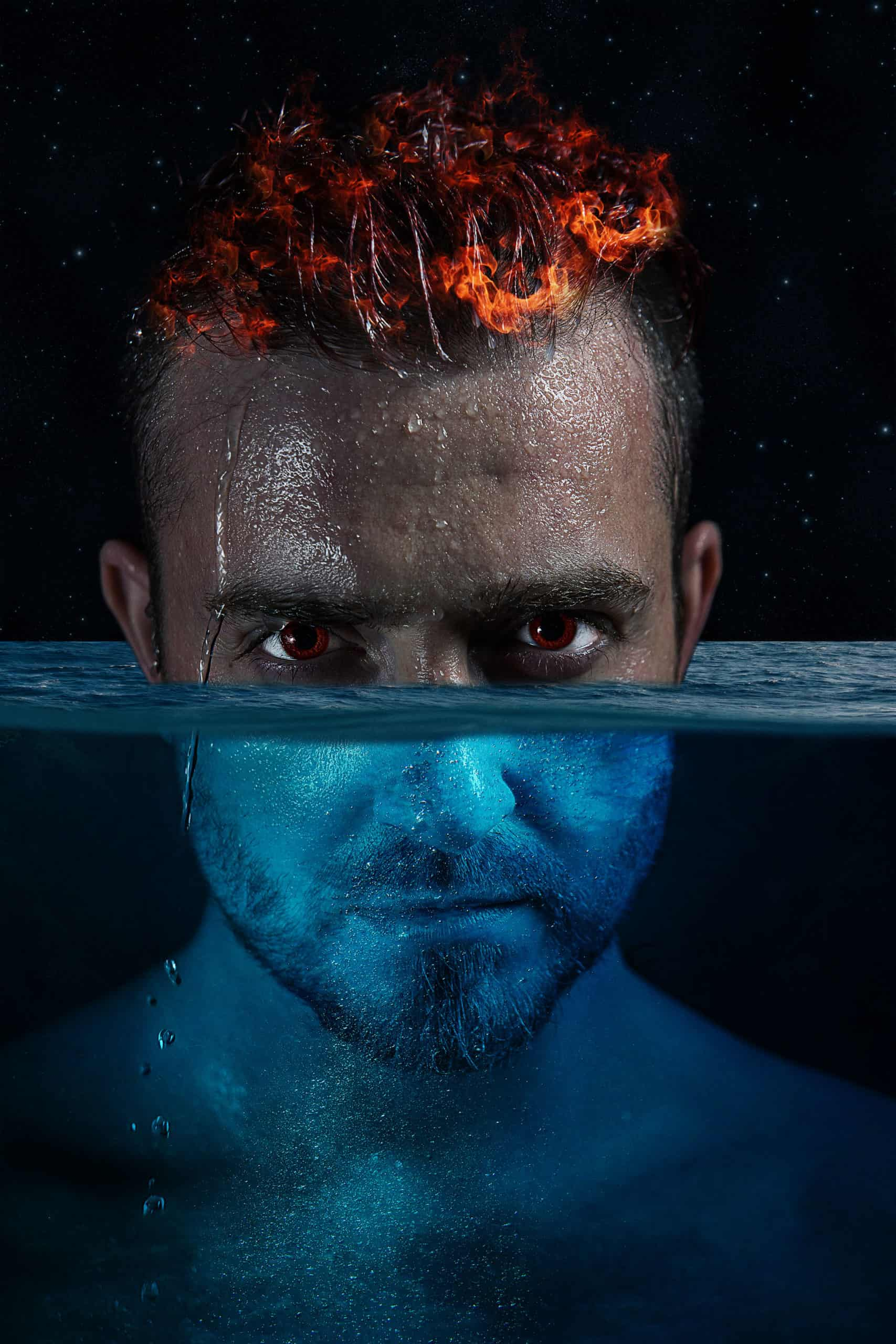 How to Create a Water & Fire Portrait Photo Manipulation in Photoshop
