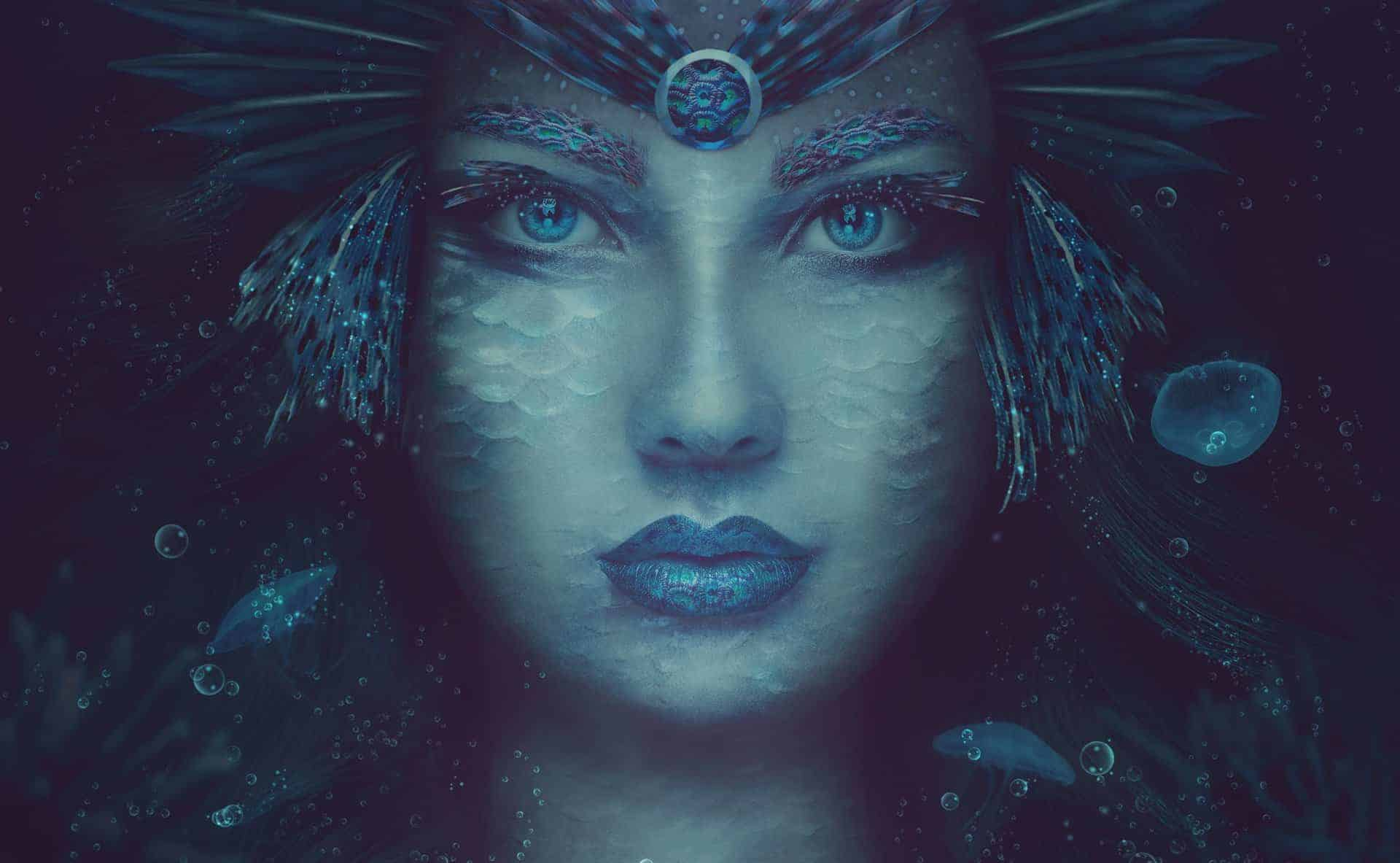 How to Create a Fantasy Sea Woman Portrait Photo Manipulation with Adobe Photoshop