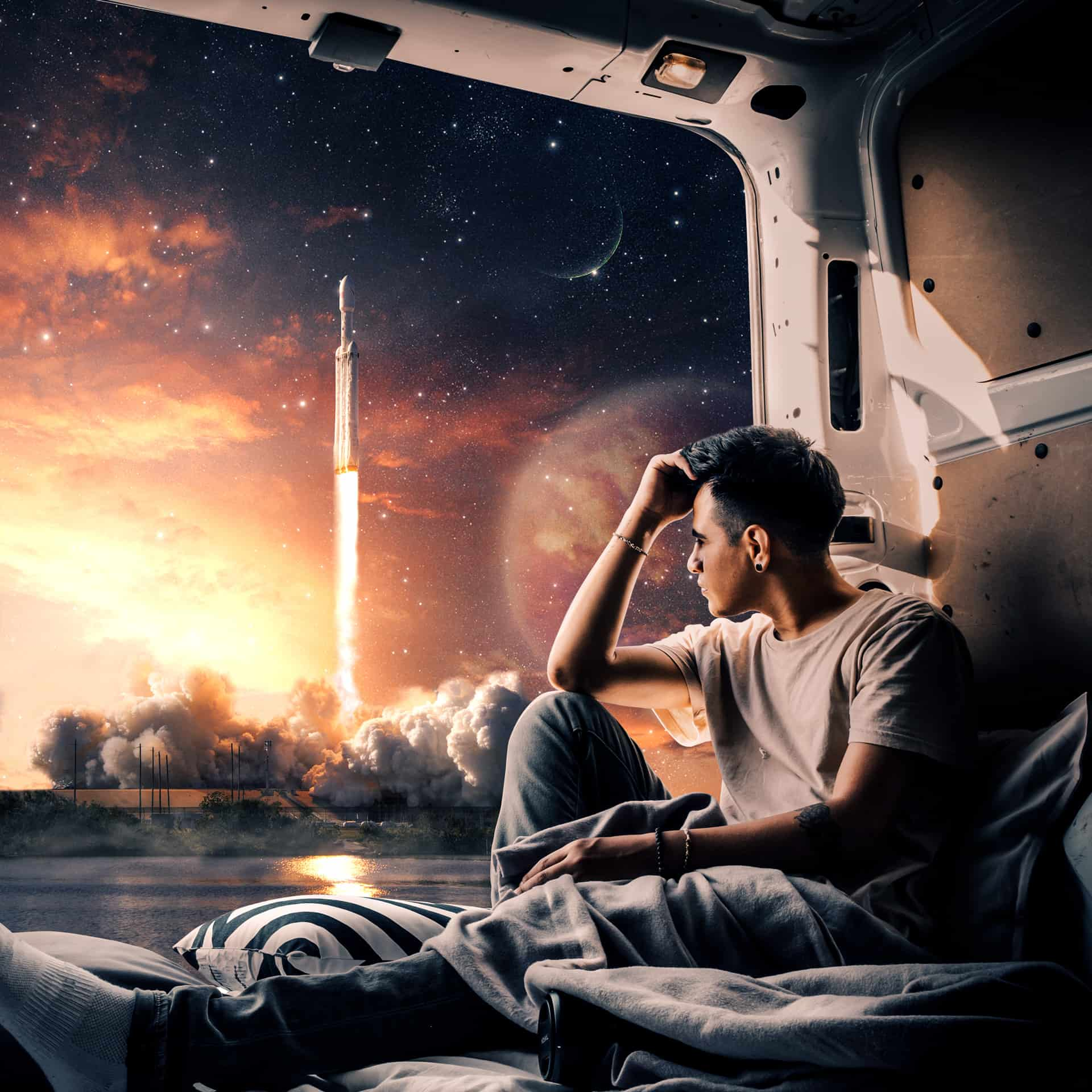How to Create a Realistic scene of Rocket Launch in Photoshop