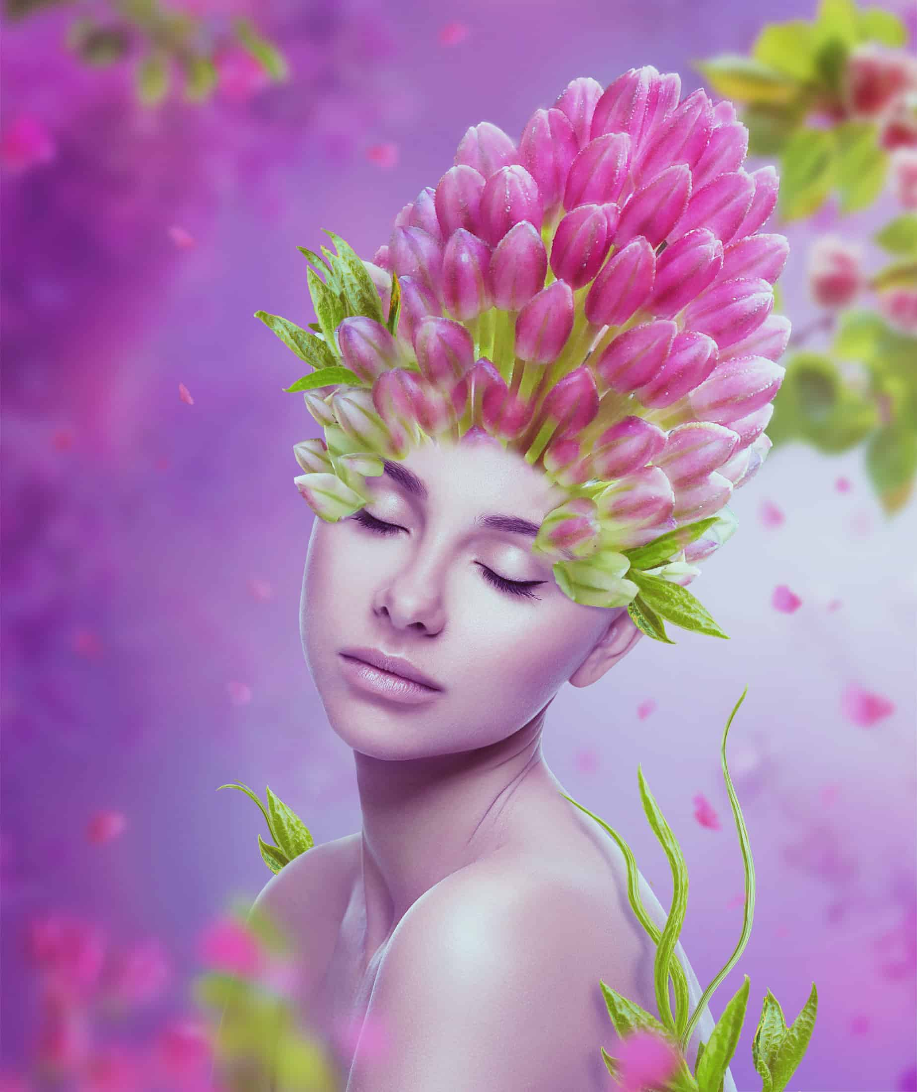 How to Create a Flower Portrait Photo Manipulation With Adobe Photoshop