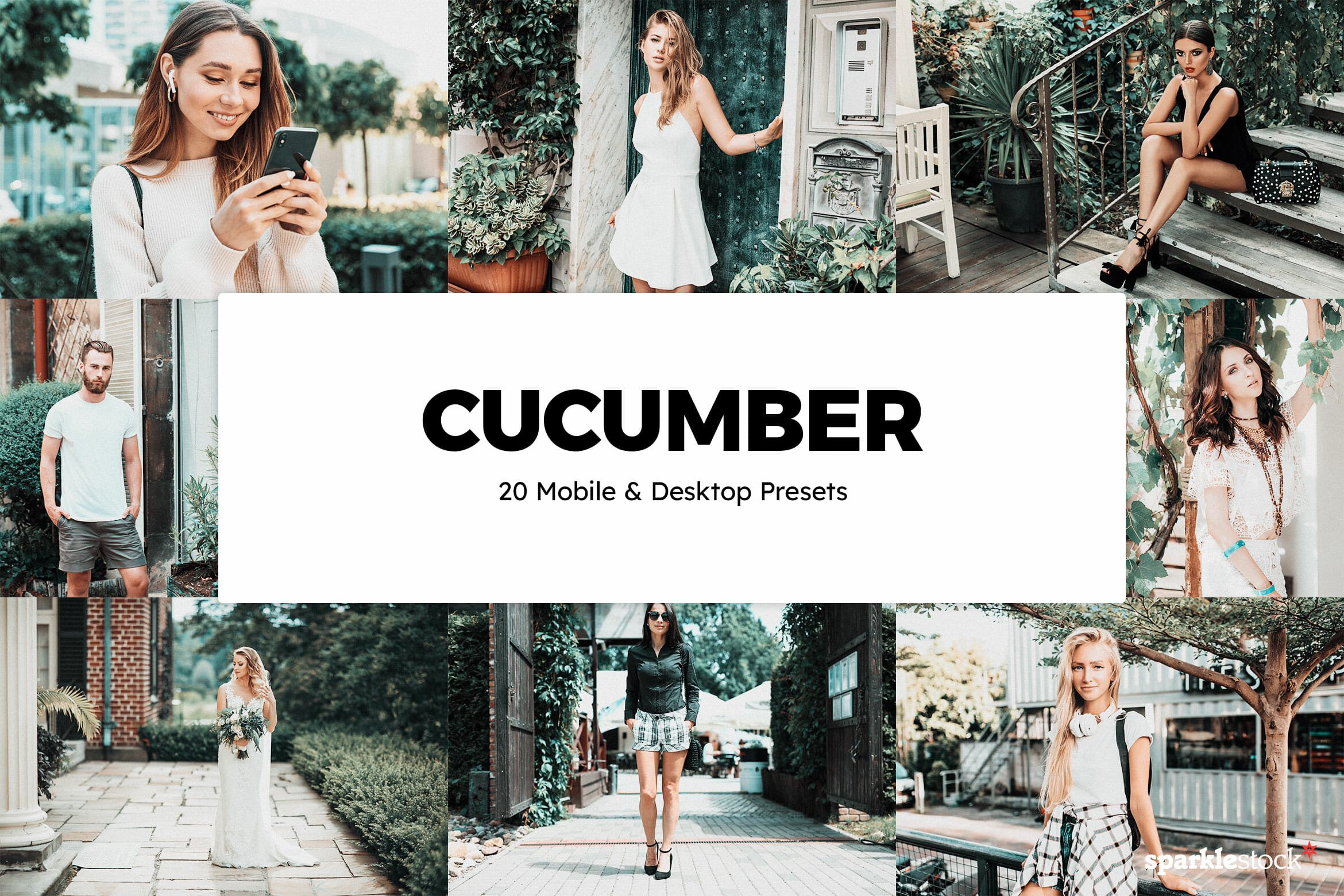8 Free Cucumber Green Lightroom Presets and LUTs