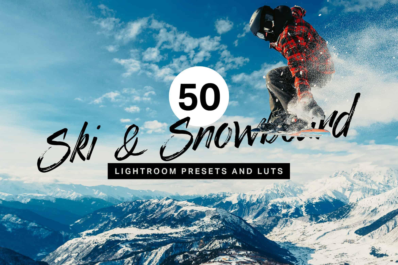 10 Ski & Snowboard Lightroom Mobile and Desktop Presets