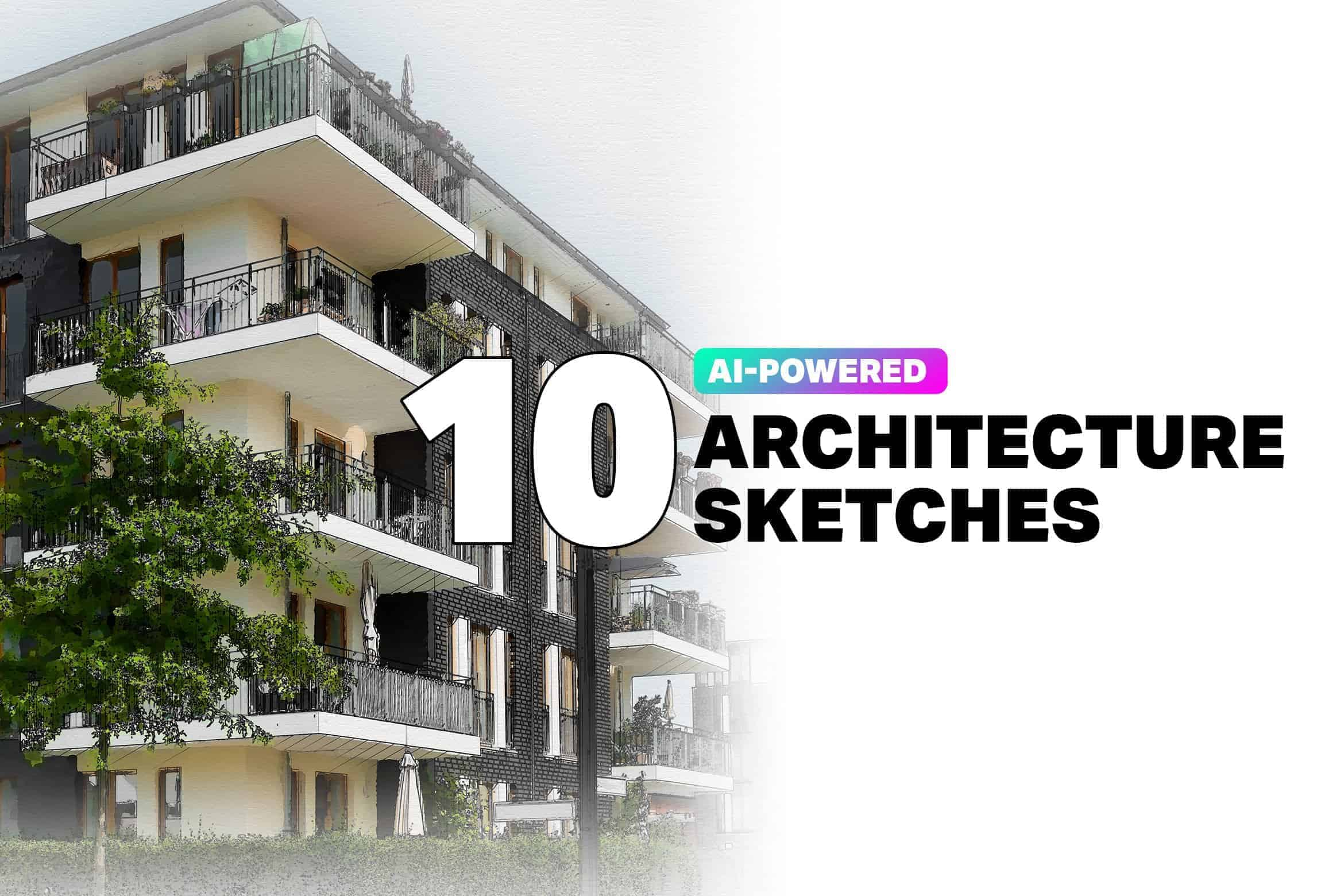 Free Architecture Sketch Photoshop Actions